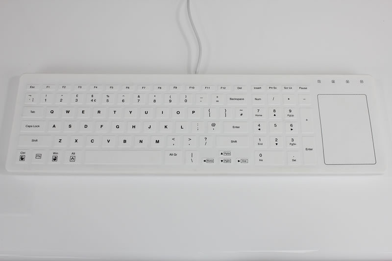Kinetic Touch S2 Silicone Keyboard with Integrated Trackpad
